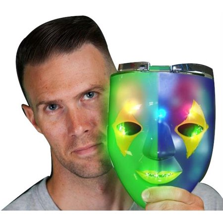 Chrome Plated Masculine Skull Masquerade Mask for Mardi Gras (Mardi Gras Skull Mask)