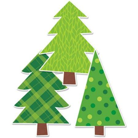 Patterned Pine Trees Bulletin Board - Cute Bulletin Board Ideas For Halloween