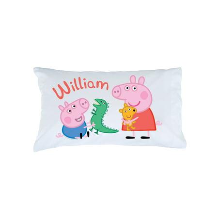 Personalized Kids Pillowcase - Peppa Pig Peppa and George