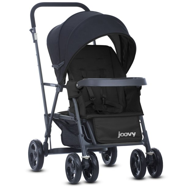 Joovy Caboose Graphite Sit and Stand Stroller, Black