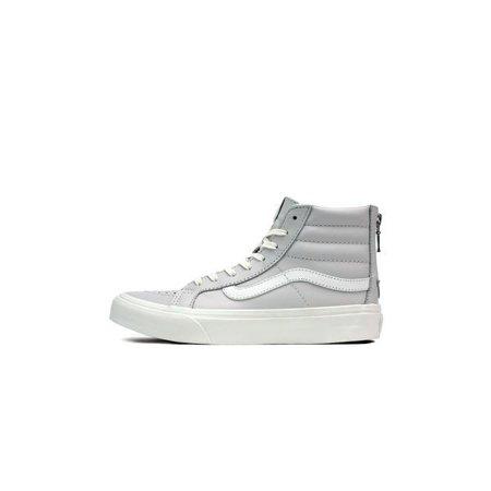 Vans Sk8-Hi Slim Zip Leather Wind Chime / Blanc De High-Top Skateboarding Shoe - 6M (Sk8 Shop)
