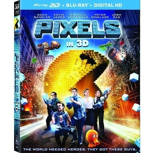 Pixels (3D Blu-ray + Blu-ray + Digital HD) (With INSTAWATCH)