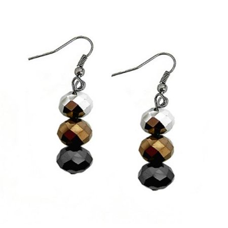 Copper Crystal Earrings - C Jewelry Mix And Match Black Silver Copper Glass Crystal Dangle Earrings