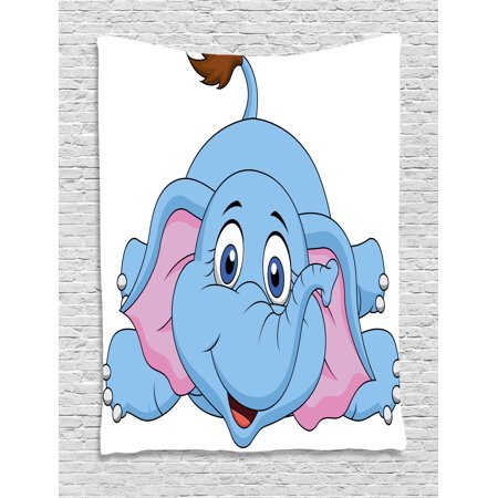 5e84883893597 Cartoon Decor Tapestry, Cute Baby Elephant Figure Kids Children Playroom  Girls Boys Art Comic Print, Wall Hanging for Bedroom Living Room Dorm  Decor, ...