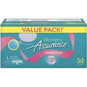 Assurance for Women Maximum Absorbency Protective Underwear, Large, 54 count