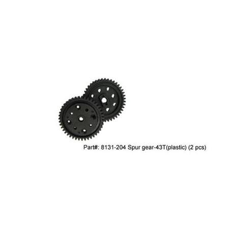 DHK Hobby DHK8131-204 53T 32P Plastic Spur Gear, Crosse Brushless - 2 Piece - image 1 de 1