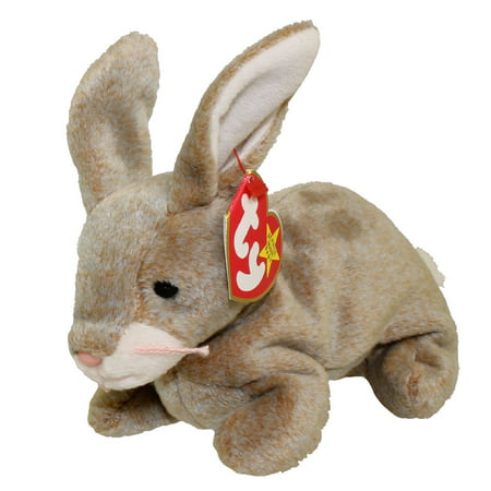 ca67e72083f TY Beanie Baby - NIBBLY the Brown Rabbit (6 inch) - Walmart.com