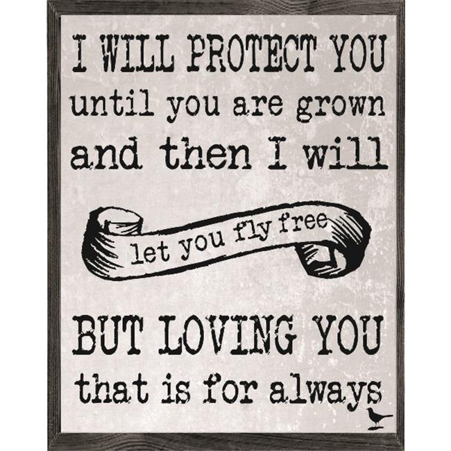 Forest Creations AP21 Art Print - I Will Protect You Until You Are Grown And Then I Will Fly Free.