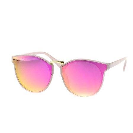 de6f5a13cb SA106 - Womens Polarized Lens Round Horn Rim Mod Retro Sunglasses All Pink  - Walmart.com