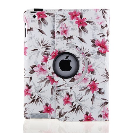 For iPad Air 2 Case Cover - TOPCHANCES 360 Degrees Rotating PU Leather Case Smart Cover Stand Tablet Case Support Wake/Sleep