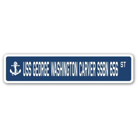 USS GEORGE WASHINGTON CARVER SSBN 656 Street Sign navy ship veteran sailor