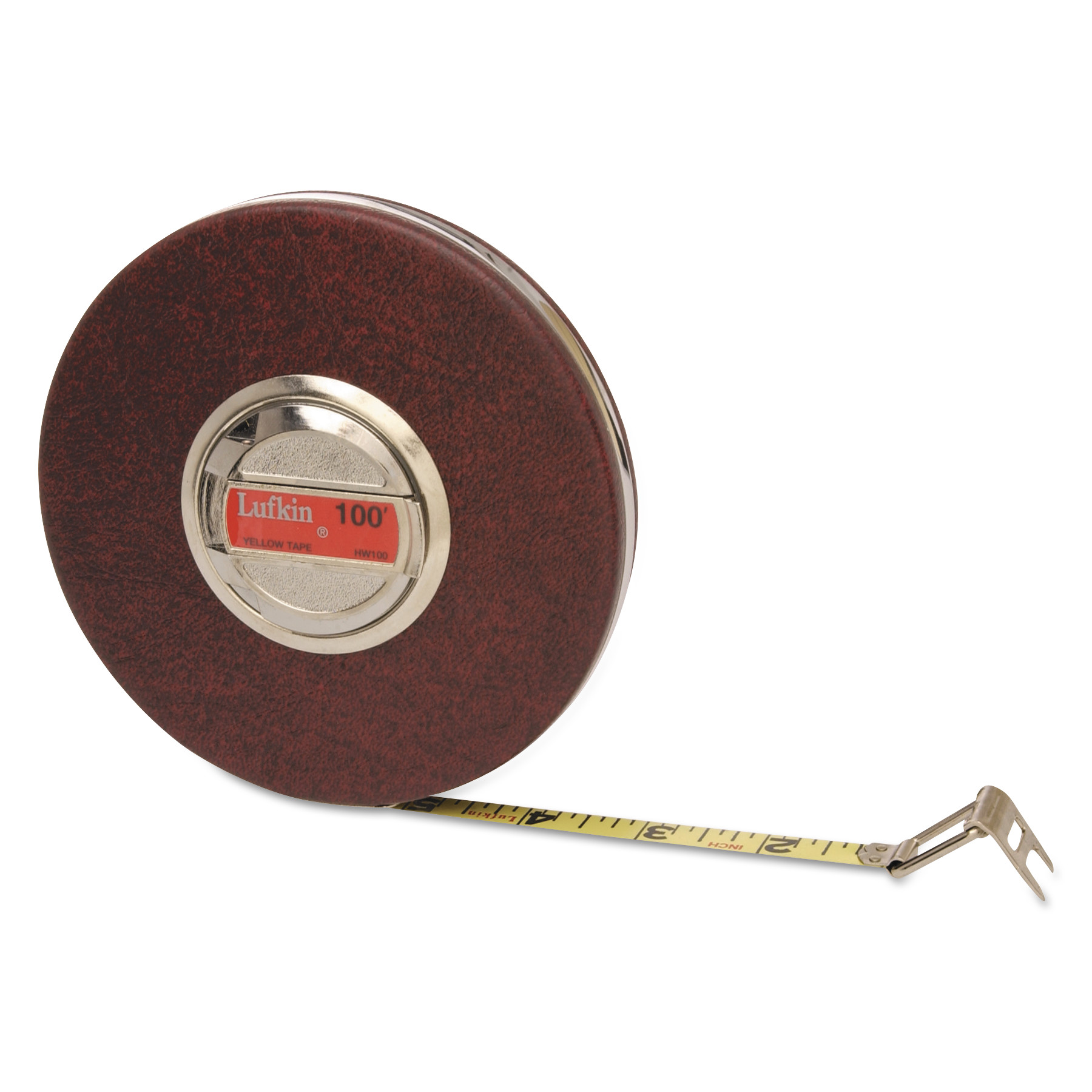 "Lufkin HW50 3/8"" x 50' Home Shop Yellow Clad Tape Measure"