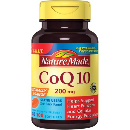 Natures Secret 200 Tabs (Nature Made CoQ10 Softgels, 200 Mg, Naturally Orange, 100)