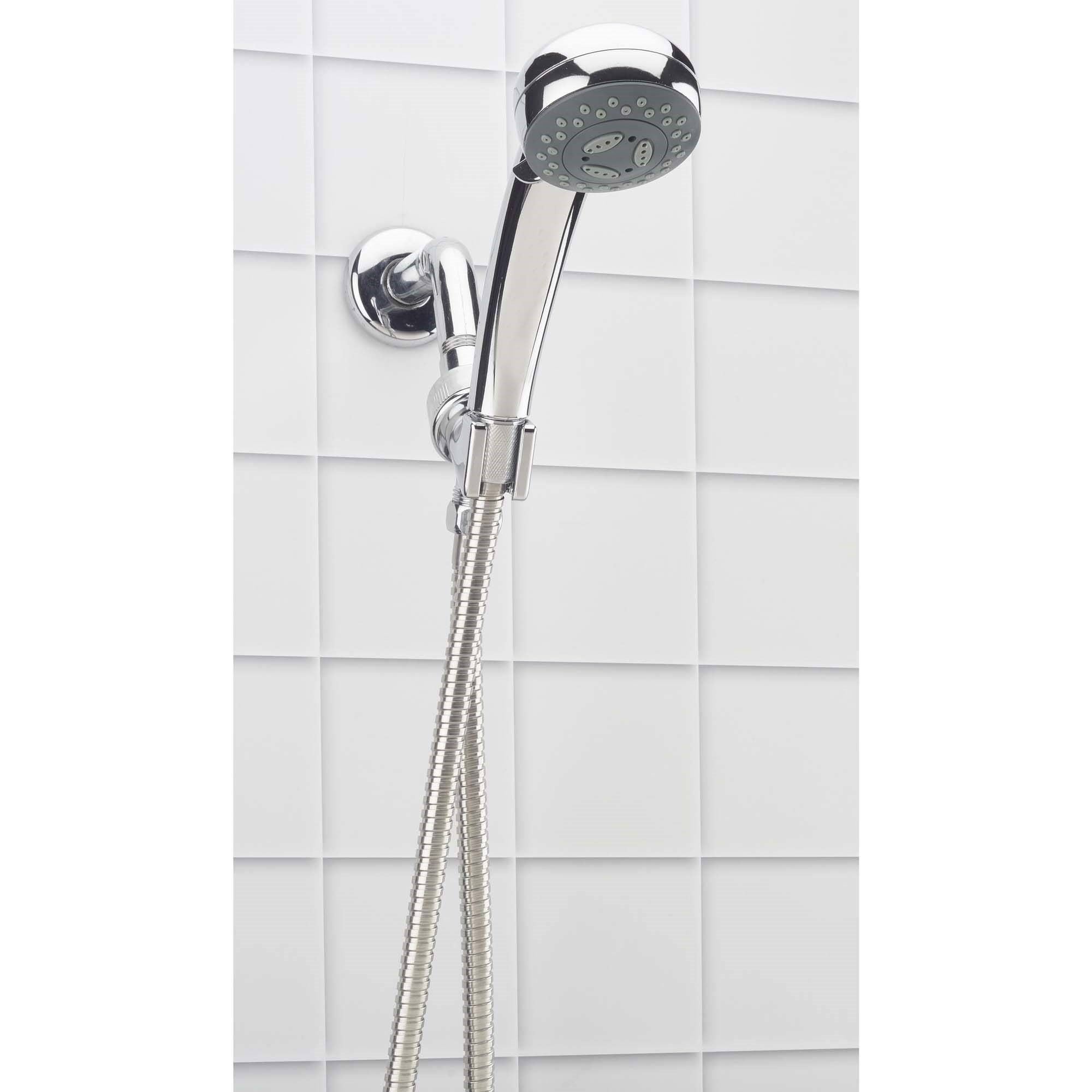Bath Bliss 3-Function Monsoon Shower Head and Mounting Bracket ...