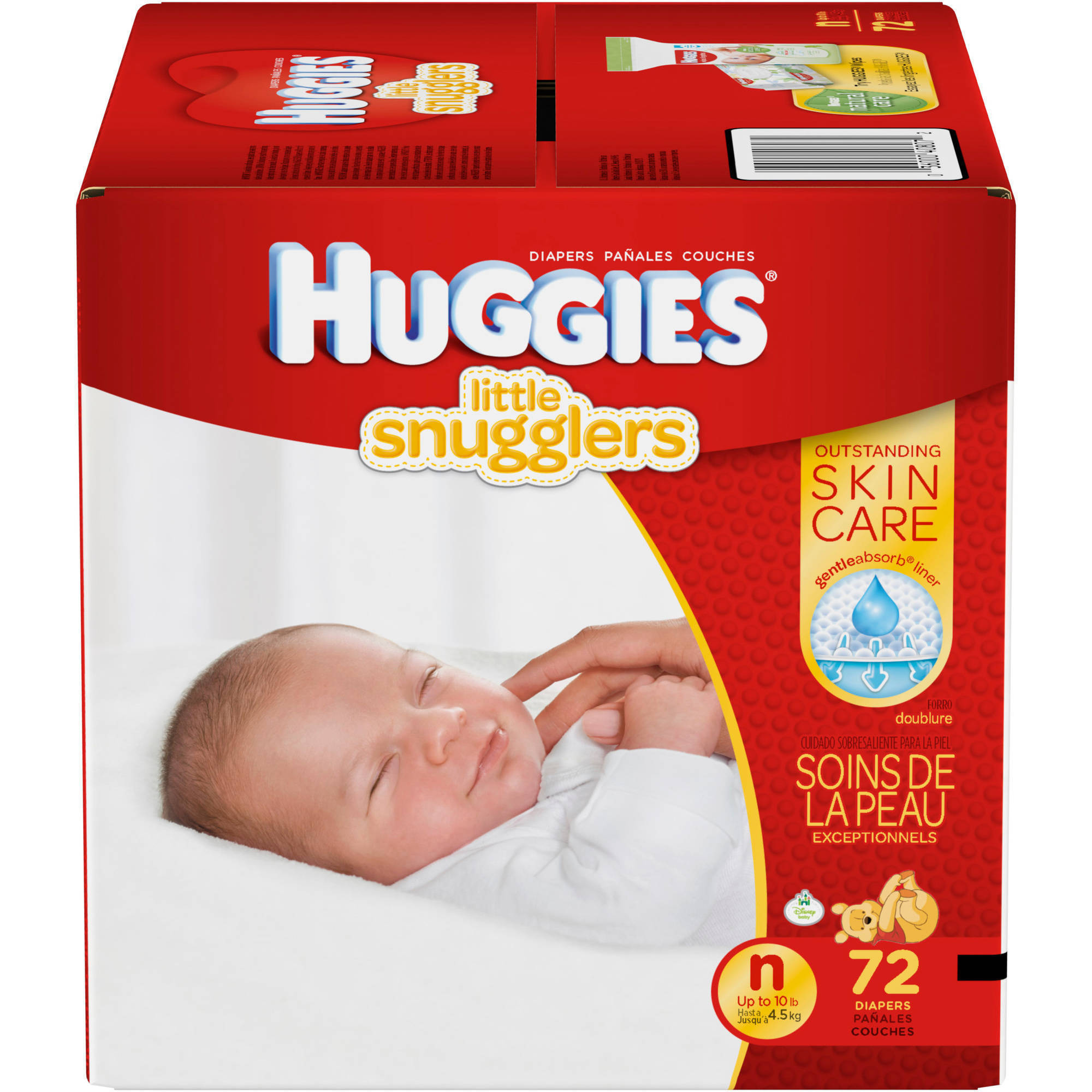 HUGGIES Little Snugglers Diapers, Newborn (Choose Diaper Count)