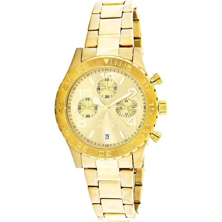 Men's 1279 II Collection Chronograph 18k Gold IP Stainless Steel Watch 18k Yellow Gold Chronograph Watch