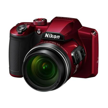 Nikon COOLPIX B600 Digital Camera (Red) VQA091EA