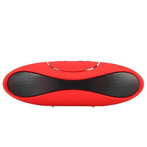 Mini-X7U Mini Portable Bluetooth Speaker Wireless FM radio Mobile PC Boombox - Red
