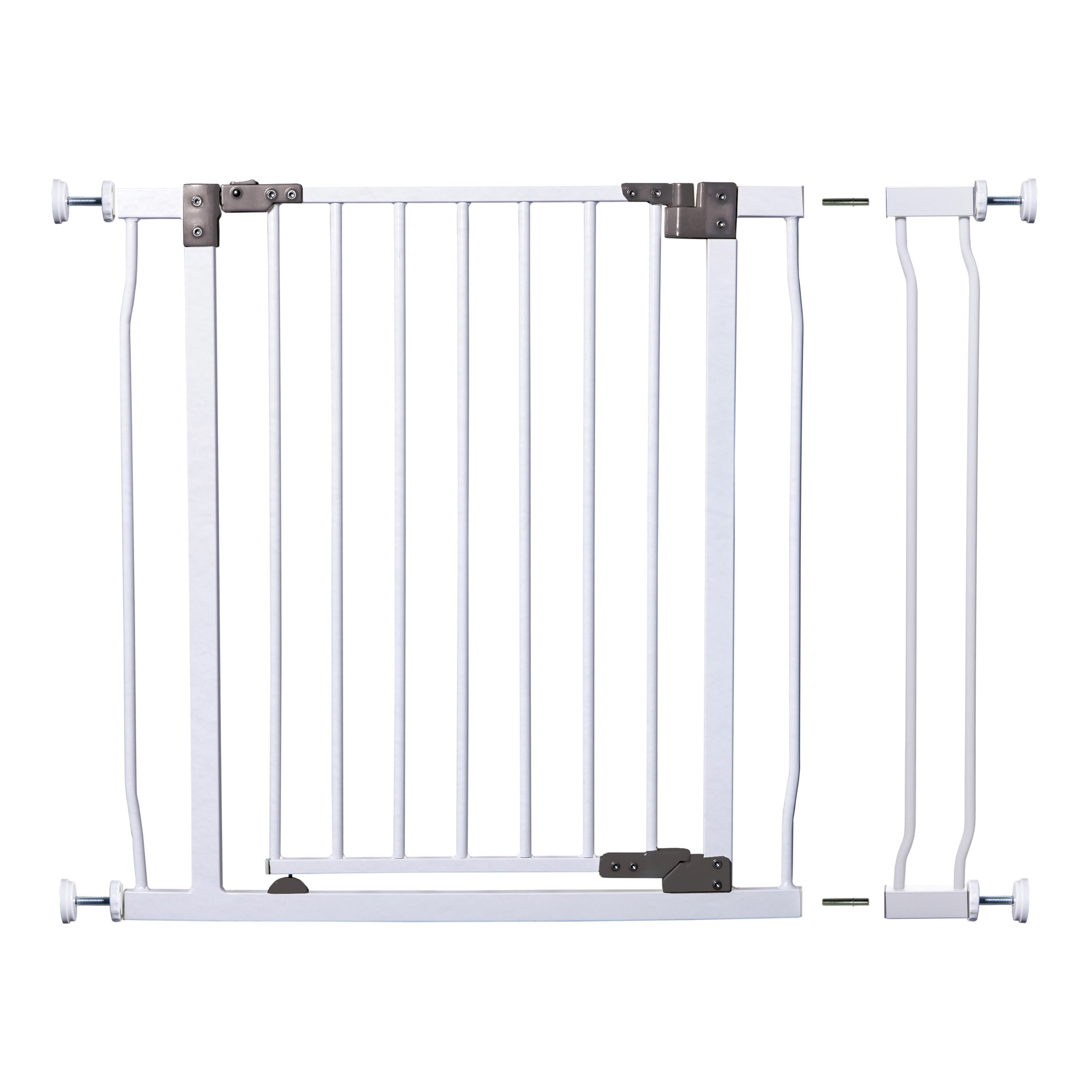 """Dreambaby Liberty Auto Close Stay Open Security Gate with 3.5"""" Extension-White"""