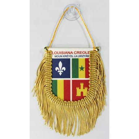 Louisiana Creole Window Hanging Flag (Shield)