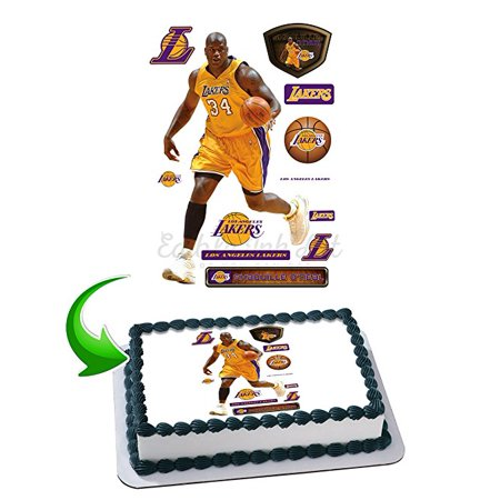 Shaquille O'Neal Edible Image Cake Topper Icing Sugar Paper A4 Sheet Edible Frosting Photo Cake 1/4 ~ Best Edible Image for