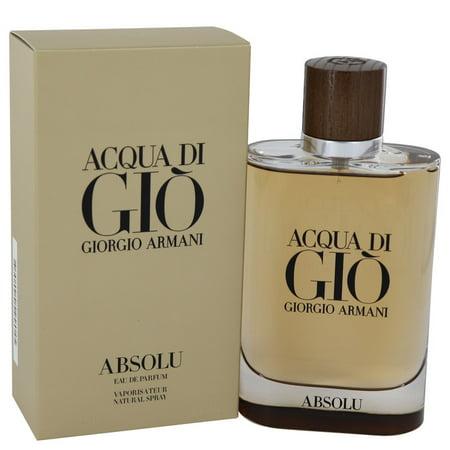 - Acqua Di Gio Absolu by Giorgio Armani Eau De Parfum Spray 4.2 oz for Men