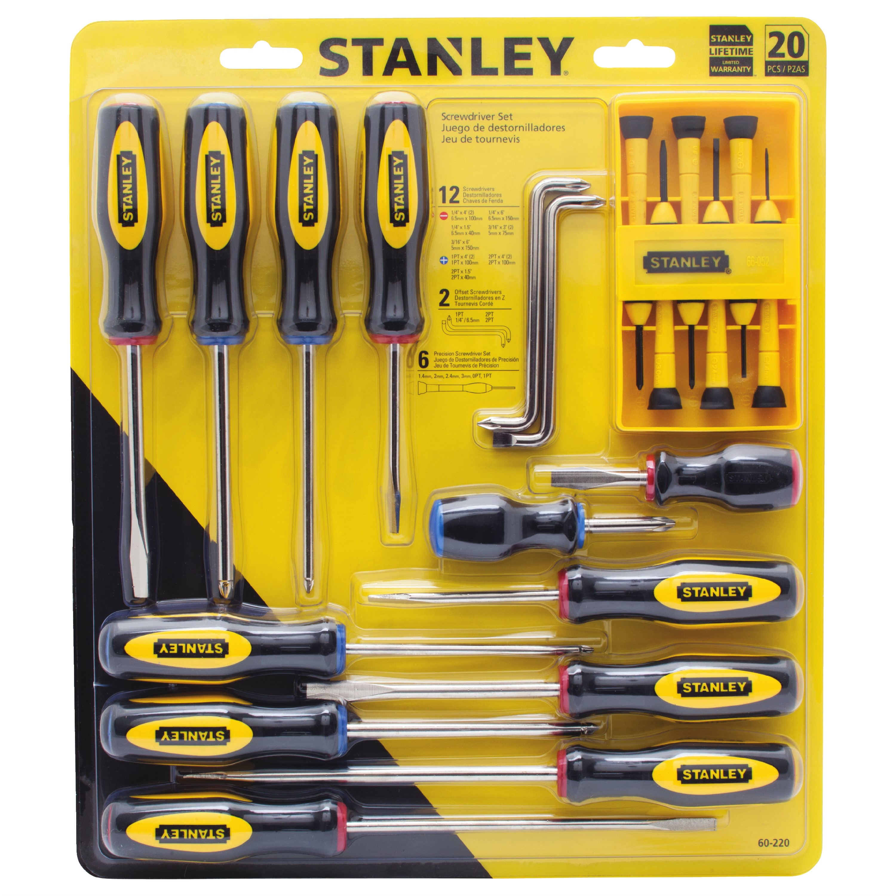 STANLEY® 60-220 20-Piece Screwdriver Set
