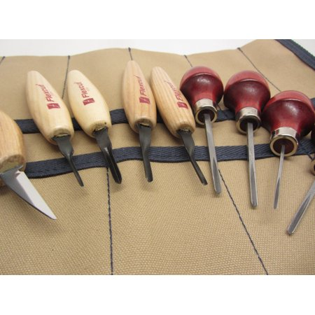 Flexcut MT 700 Micro 60 Parting tools Detail Knife KN13 Ramelson 4 V Palm  Tools 9 Pocket Canvas Tool Roll