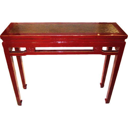 Asian Loft Carved Console Table