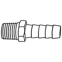 US Hardware M-325C Hose Barb, 1/4 in, MNPT, Brass