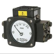 MIDWEST INSTRUMENT 140-AA-00-O(AA)-50P Pressure Gauge,0 to 50 psi