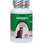 Nutramax Welactin Feline Omega-3 Supplement for Cats, 60 Softgel Capsules