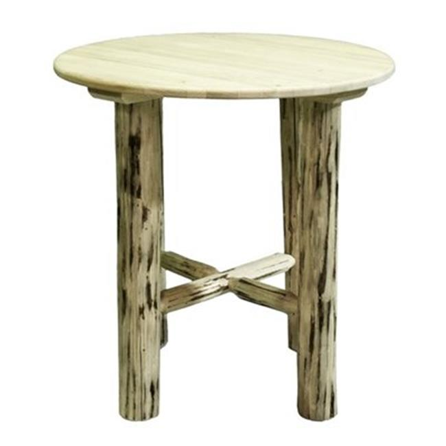 45'' Bistro Bar Table - Clear Lacquer