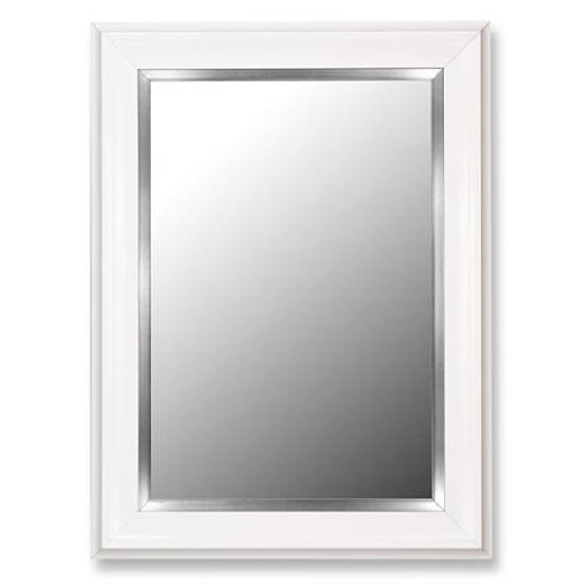2nd Look Mirrors 206907 39x76 Glossy White Grande- Stainless liner Mirror