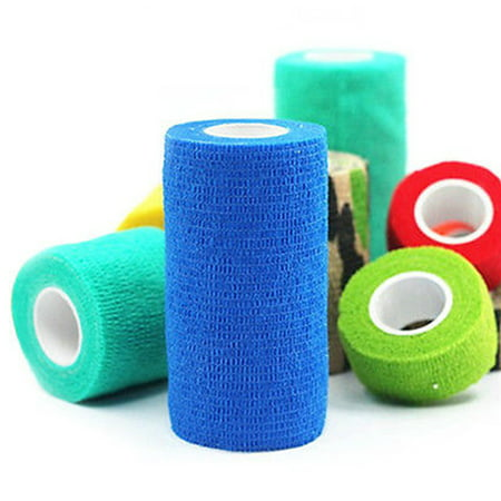 1PCS Pet Dog Cat Animal Vet Wound Cohesive Bandage Tape Elastic Self Adherent Wrap - Pet Wrap Bandage