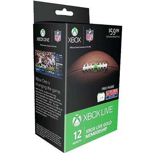 Xbox Live NFL 12-Month Card Bundle (Xbox 360 / Xbox One)