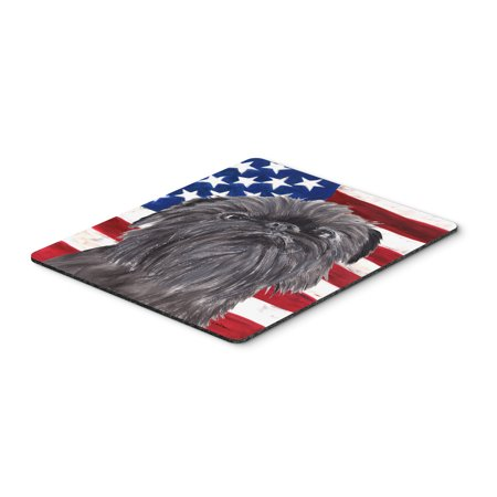 Brussels Griffon USA American Flag Mouse Pad, Hot Pad or Trivet
