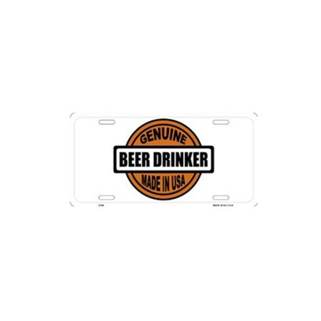 LP-1228 Genuine Beer Drinker Made in USA License Plate- X396 - image 1 of 1