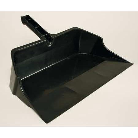 RUBBERMAID FG9B6000BLA Hand Held Dust Pan, 21-3/4 In. W, Black