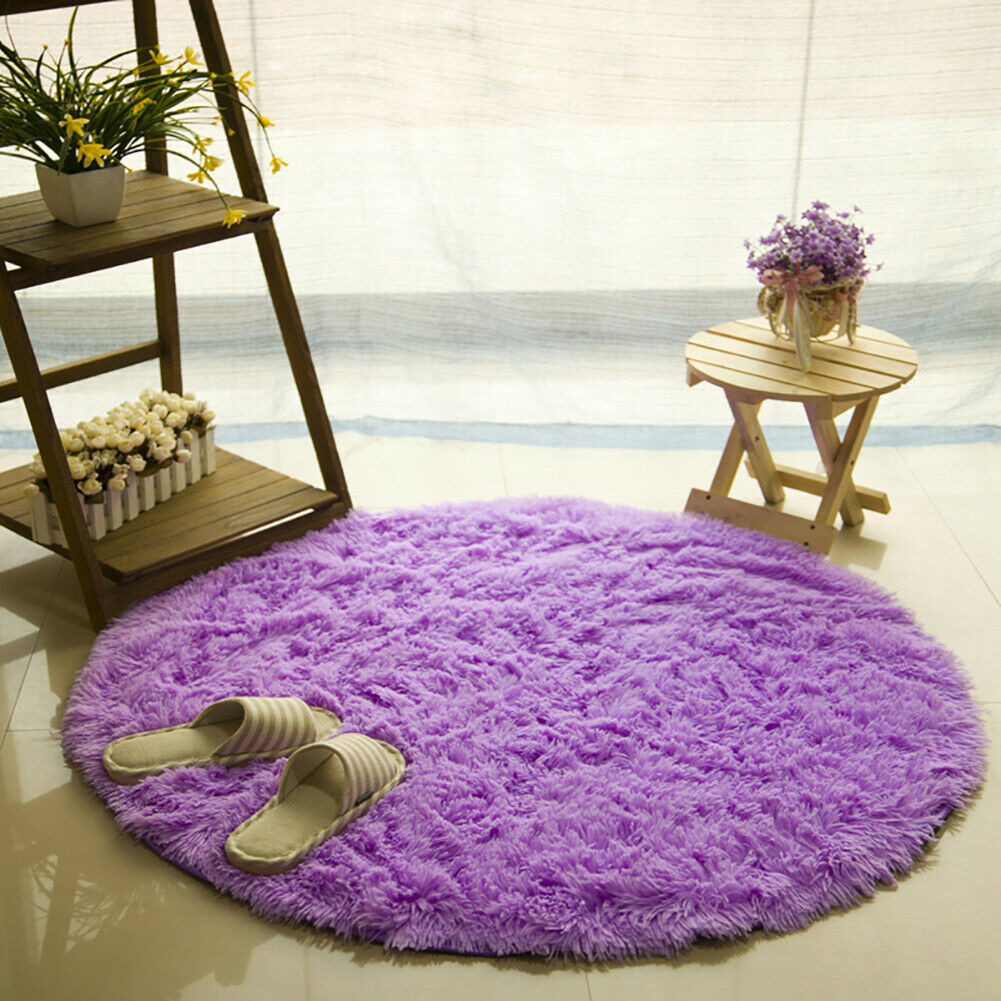 Colorful Soft Candy Area Rugs Kids Play Carpet Living Room Floor Yoga Round Mat