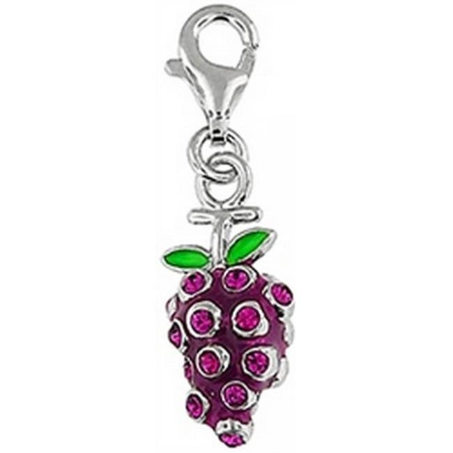 Doma Jewellery DJS01602 Sterling Silver and Enamel Charm - Grapes