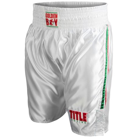 Knee Boxing Trunks (Title Boxing Golden Boy Pro Style Lightweight Boxing Trunks )