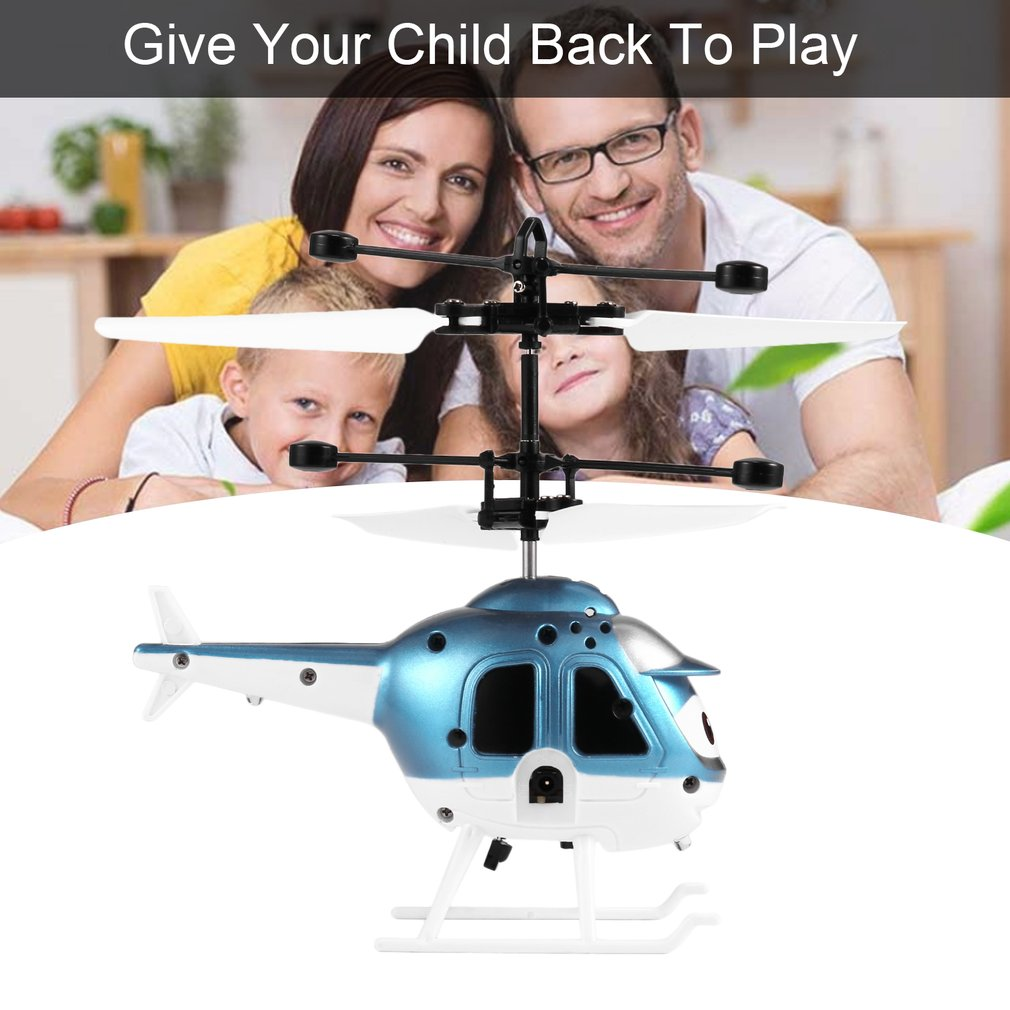 RC Flying Toy Mini RC Infrared Induction Helicopter Aircraft Toys for Kids
