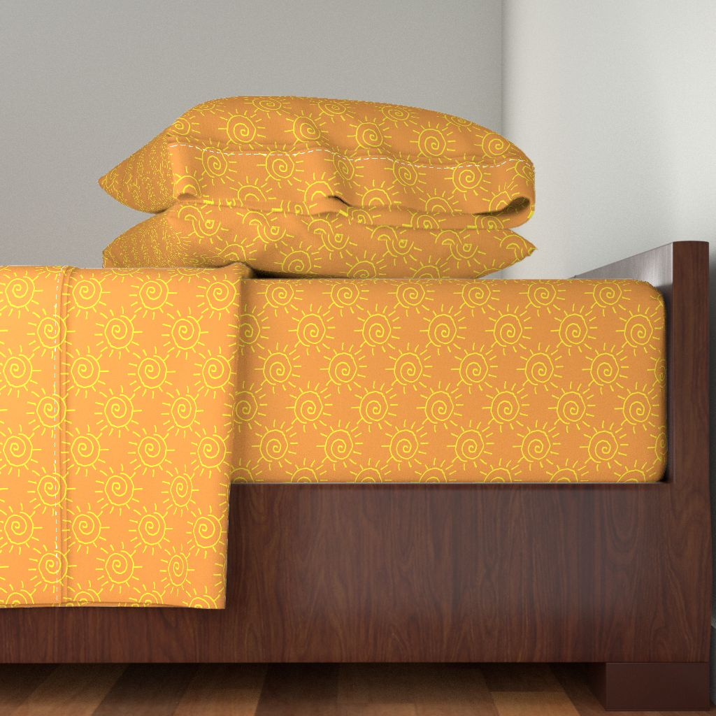 Ginger Anniedeb Sun Hot Yellow 100% Cotton Sateen Sheet Set by Roostery