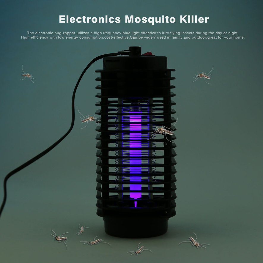 Household Electronics Mosquito Killer LED Night Lamp Bug Insect Killing Zapper by OUTAD