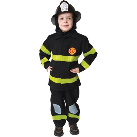 Morris Costumes Kid's Unisex Realistic Fire Fighter Costume Small 4-6, Style - Realistic Costume