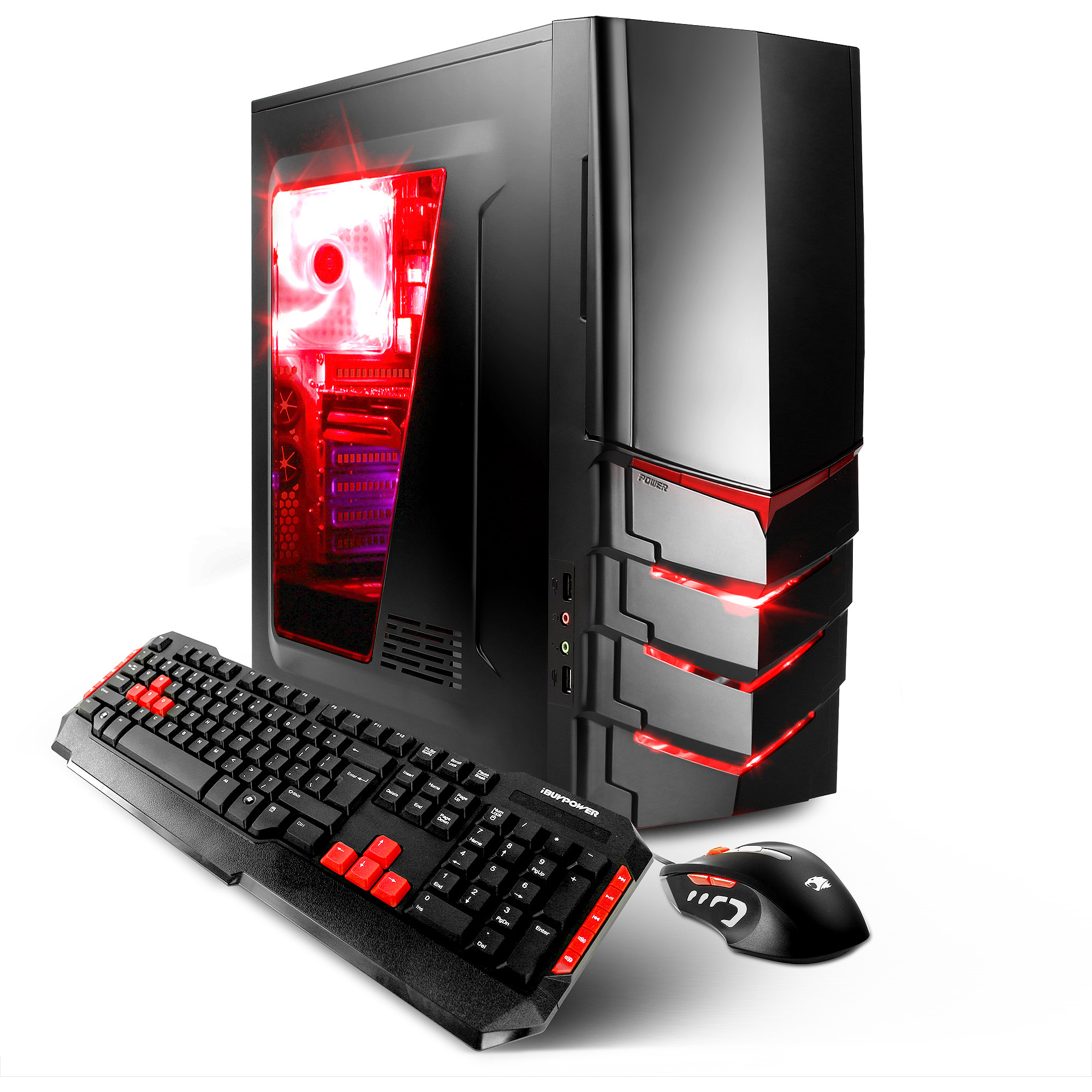 iBUYPOWER Black GAMER WA540B Gaming Desktop PC with AMD FX-4300 Vishera Quad-Core Processor, 4GB Memory, 500GB Hard Drive and Windows 10 Home (Monitor Not Included)