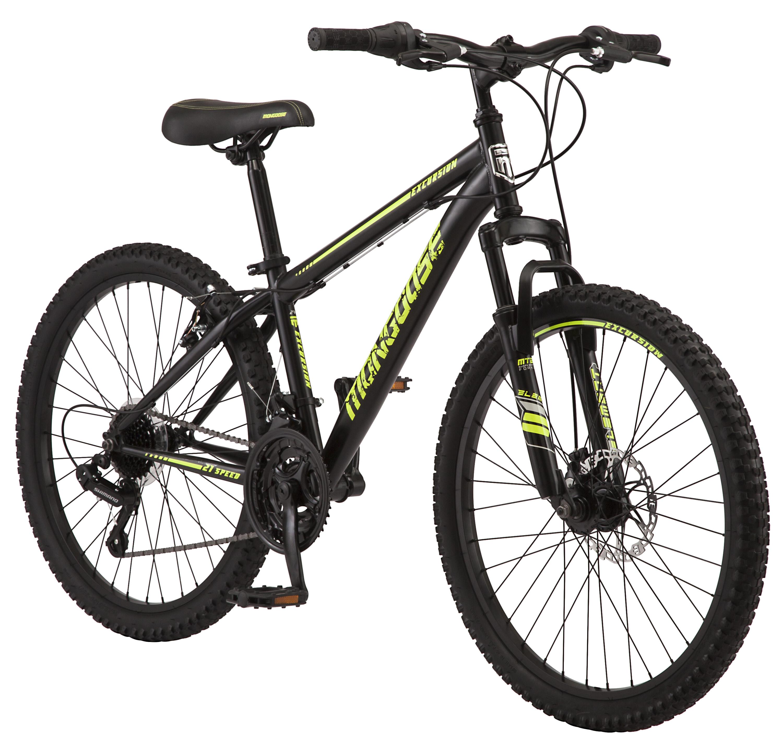 Mongoose 21 Speeds Excursion Mountain Bike with 24″ Wheel