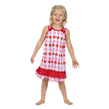 Laura Dare Heart Strings Bow Top Nightgown (12m-6x)