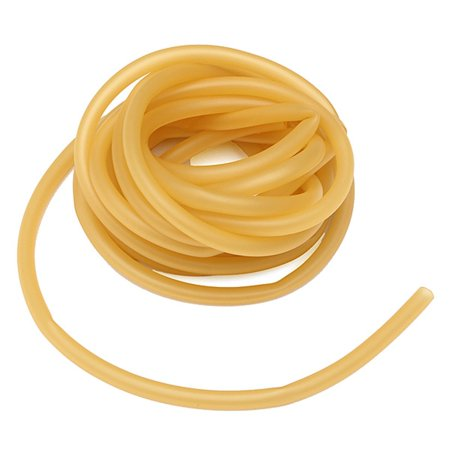 Qiilu 6X9Mm Natural Latex Rubber Band Rubber Hose Tubing Latex Tubing For Slingshot Catapult Elastic Parts Rocket Outdoor Hunting Surgical Tubing 3M